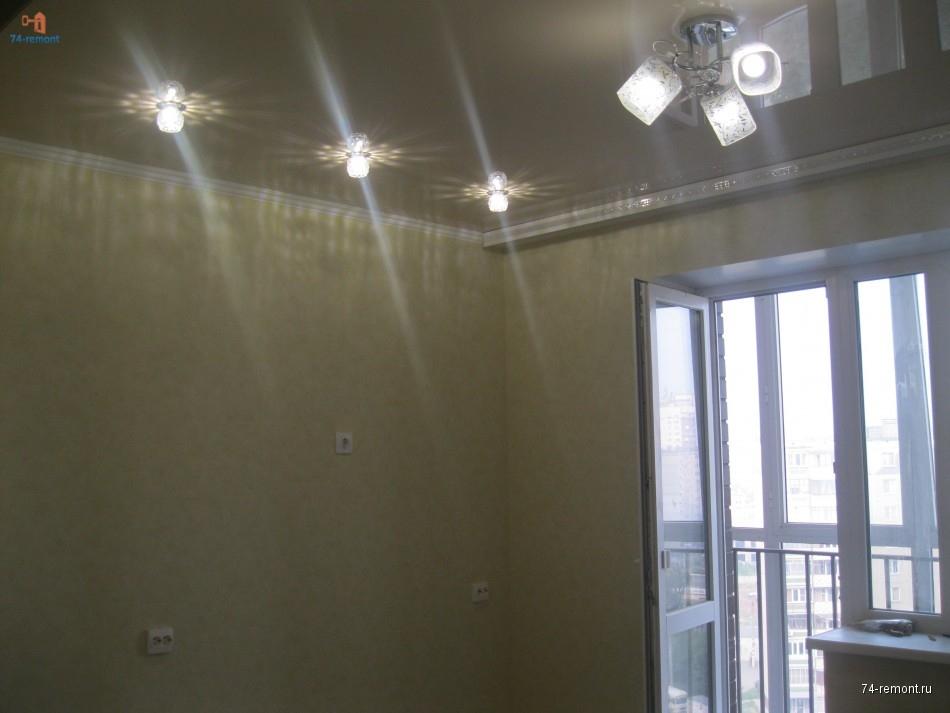 Ремонт квартиры, оклейка обоев, натяжной потолок, пластиковое окно и дверь на болкон